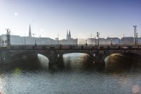 Images:The Lombardsbridge crosses the Alster